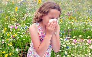 Allergies on girl