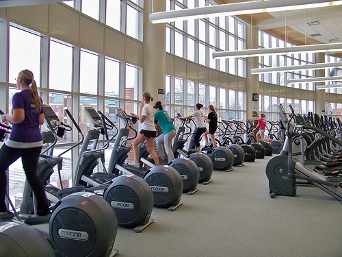 people doing exercise on Elliptical machine 11