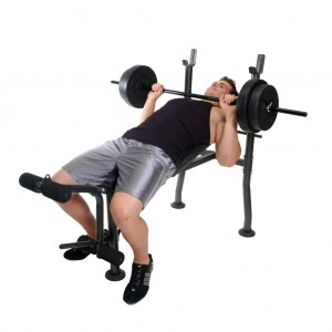 man on Weight Bench