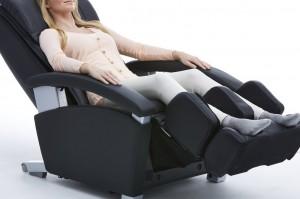 woman on massage chair