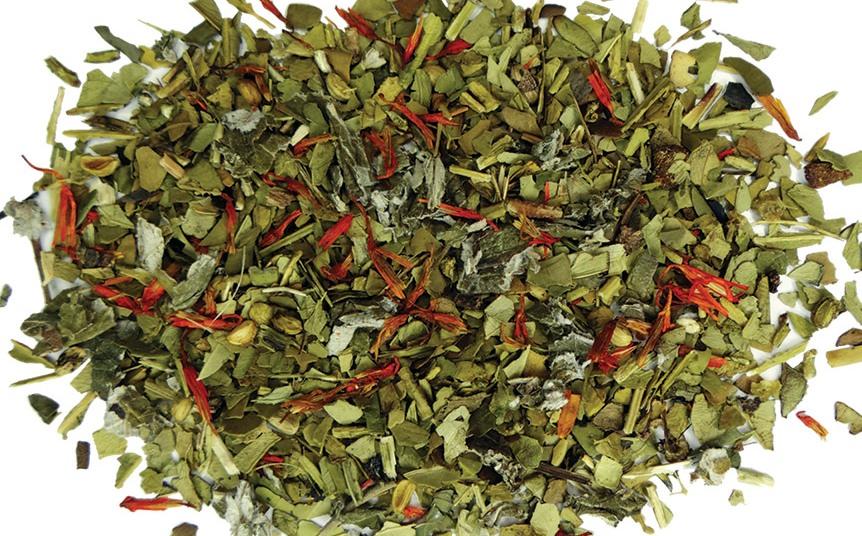 yerba tea leafes