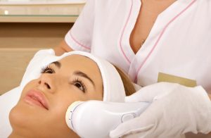 woman doing hair removal process
