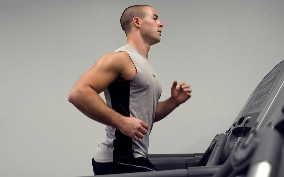 man using Treadmill