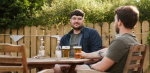 friends taking beer
